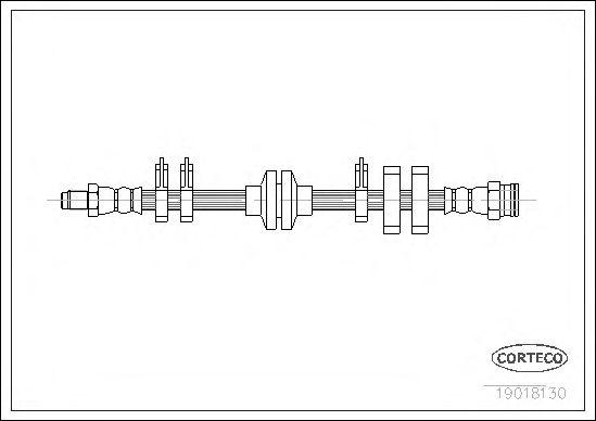 Тормозной шланг CORTECO 19018130