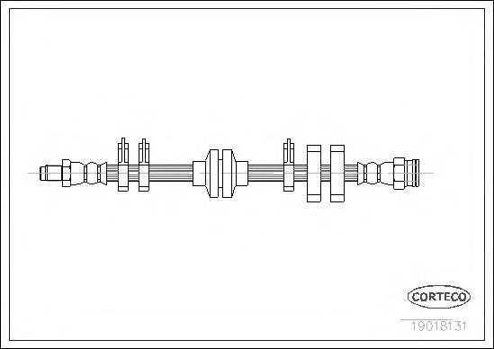 Тормозной шланг CORTECO 19018131