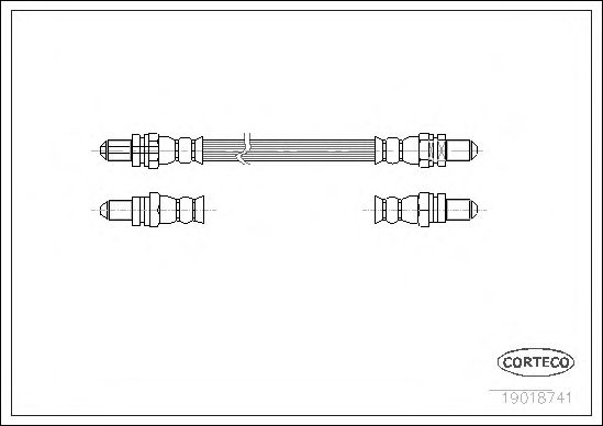 Тормозной шланг CORTECO 19018741