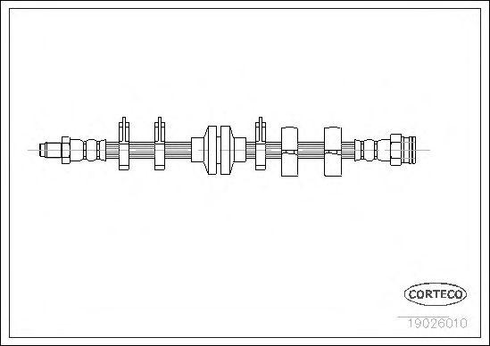 Тормозной шланг CORTECO 19026010