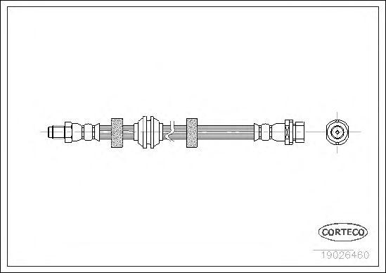 Тормозной шланг CORTECO 19026460