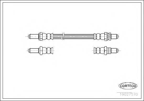 Тормозной шланг CORTECO 19027570