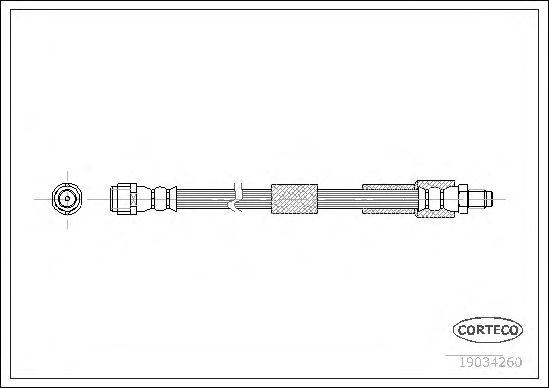 Тормозной шланг CORTECO 19034260