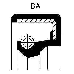 Уплотняющее кольцо CORTECO 12010936B (автоматическая коробка передач, дифференциал)