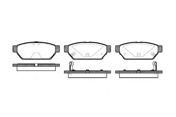 Тормозные колодки REMSA 0440.02