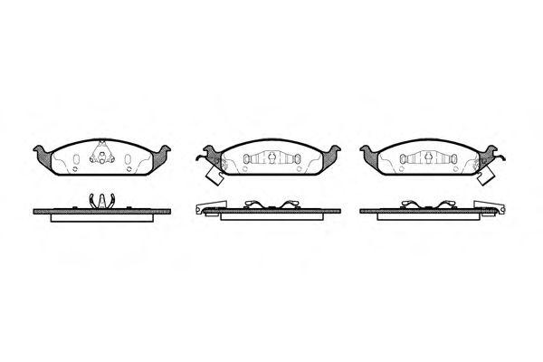 Тормозные колодки REMSA 0570.02