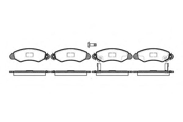 Тормозные колодки REMSA 0702.02