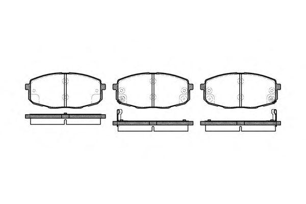 Тормозные колодки REMSA 1038.02