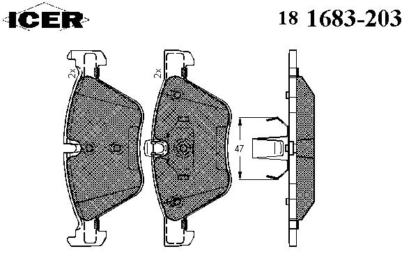 Тормозные колодки ICER 181683-203