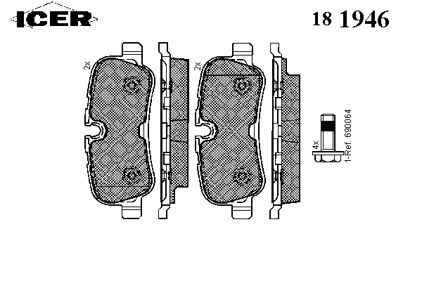 Тормозные колодки ICER 181946
