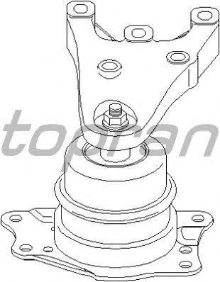 Подушка двигателя TOPRAN 112 133