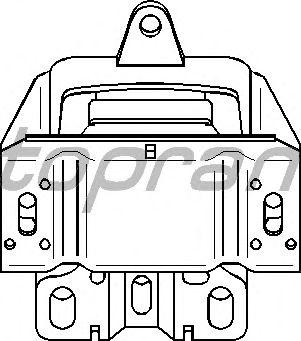 Подушка двигателя TOPRAN 107 972