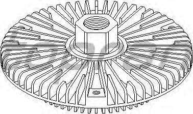 Вязкостная муфта вентилятора охлаждения TOPRAN 500 862