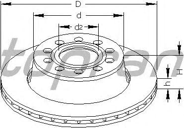 Тормозной диск TOPRAN 110 192