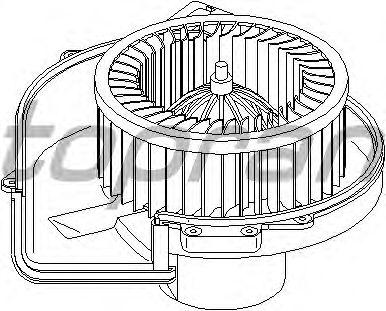 Вентилятор отопителя TOPRAN 111 981