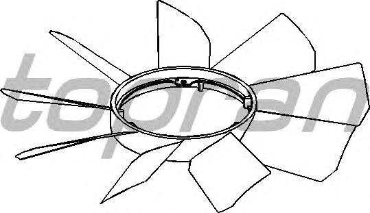 Крыльчатка вентилятора охлаждения TOPRAN 401 856