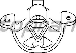 Подушка двигателя TOPRAN 201 396