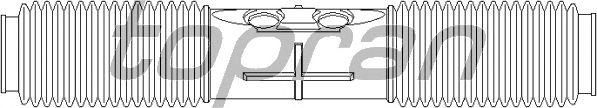 Пыльник рулевой рейки TOPRAN 201 785