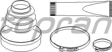 Комплект пыльника ШРУСа TOPRAN 721 159