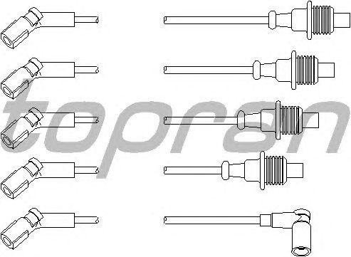 Комплект высоковольтных проводов TOPRAN 721 504