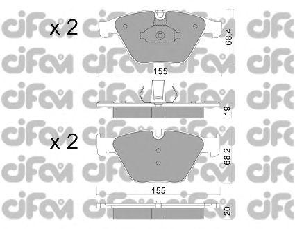 Тормозные колодки CIFAM 822-918-0