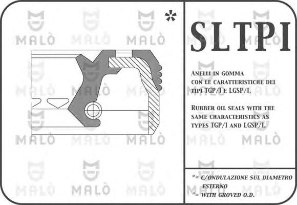 Сальник дифференциала MALO 772PIFL