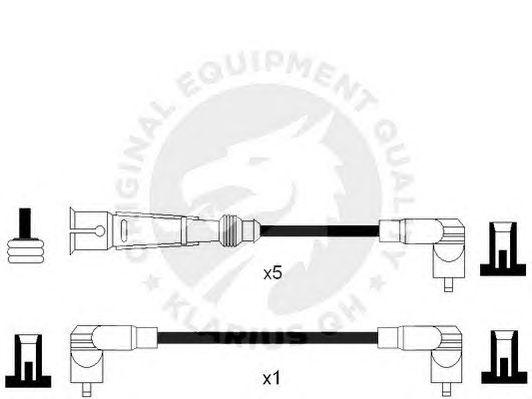 Комплект высоковольтных проводов QH International XC973 CI