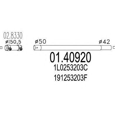 Труба выхлопного газа MTS 01.40920