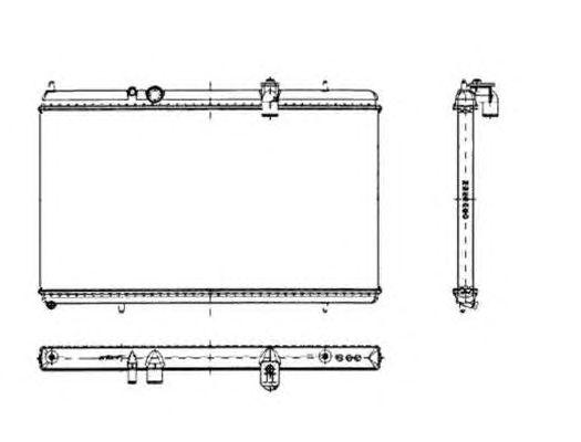 Радиатор, охлаждение двигателя NRF 50444
