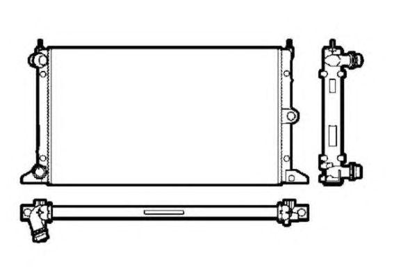 Радиатор, охлаждение двигателя NRF 50592