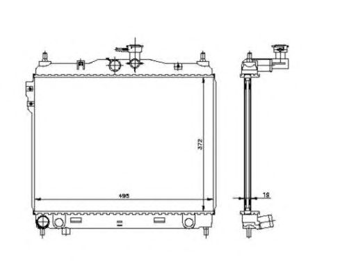 Радиатор, охлаждение двигателя NRF 53361