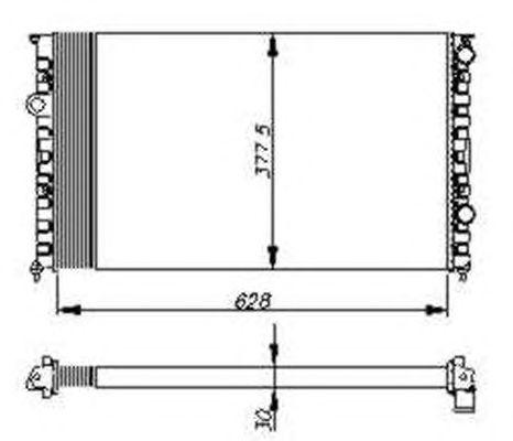 Радиатор, охлаждение двигателя NRF 54693