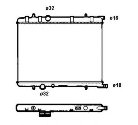 Радиатор, охлаждение двигателя NRF 58304