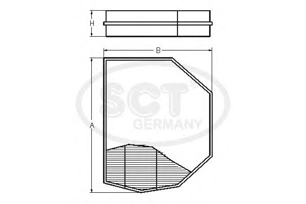Фильтр салона SCT Germany SAK 120