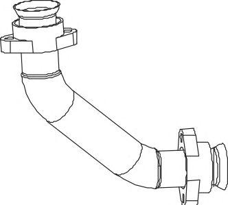 Труба выхлопного газа DINEX 53174