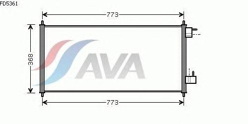 Радиатор кондиционера AVA QUALITY COOLING FD5361
