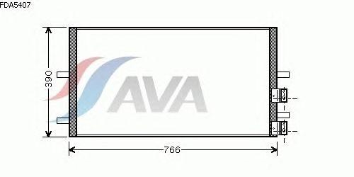 Радиатор кондиционера AVA QUALITY COOLING FDA5407