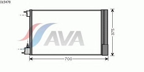 Радиатор кондиционера AVA QUALITY COOLING OL5478
