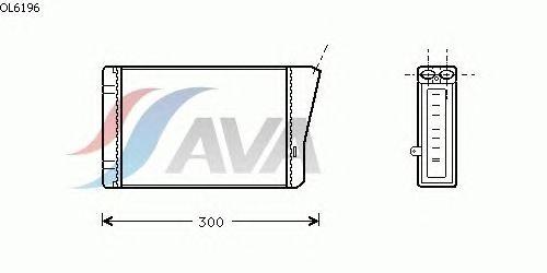 Радиатор отопителя AVA QUALITY COOLING OL6196