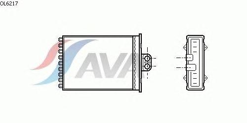 Радиатор отопителя AVA QUALITY COOLING OL6217