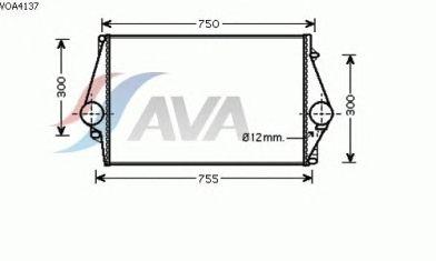 Интеркулер AVA QUALITY COOLING VOA4137