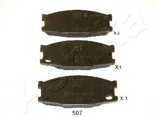 Тормозные колодки ASHIKA 50-05-507