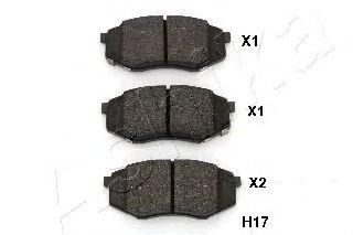 Тормозные колодки ASHIKA 50-0H-H17
