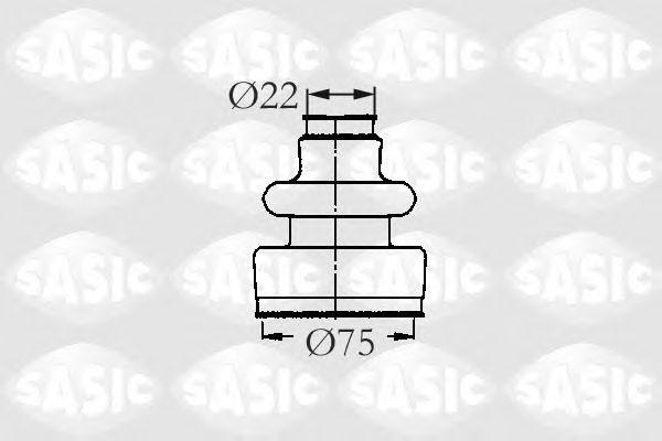 Комплект пыльника ШРУСа SASIC 2933593