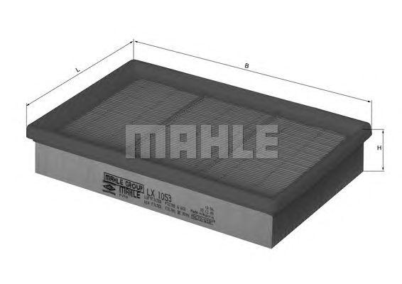 Воздушный фильтр MAHLE ORIGINAL LX 1053