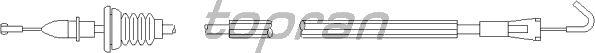Система управления ручки двери TOPRAN 109 905
