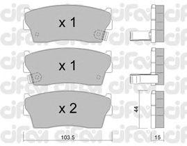 Тормозные колодки CIFAM 822-116-0