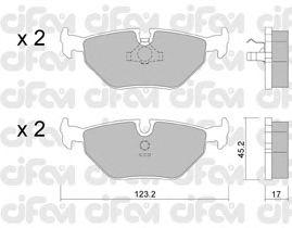Тормозные колодки CIFAM 822-125-0