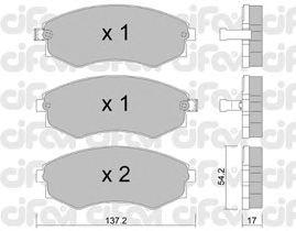 Тормозные колодки CIFAM 822-188-0