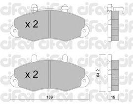 Тормозные колодки CIFAM 822-194-1